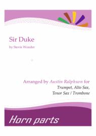 Sir Duke - horn parts Sheet Music by Stevie Wonder