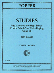 """Studies: Preparatory to the High School (""""Hohe Schule) of Cello Playing"""