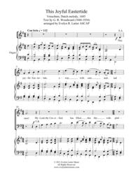 This Joyful Eastertide Sheet Music by Evelyn R. Larter