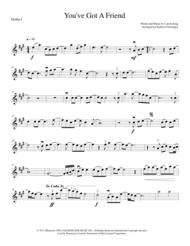 You've Got A Friend - String Quartet Sheet Music by Carole King