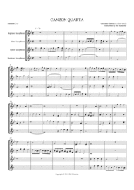 Canzon Quarta Sheet Music by Giovanni Gabrieli