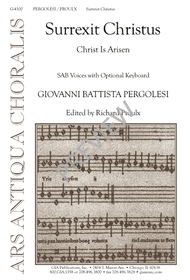 Surrexit Christus Sheet Music by Richard Proulx