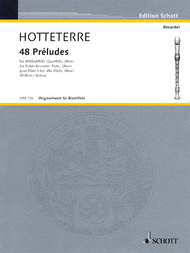 48 Preludes Sheet Music by Jacques Martin Hotteterre