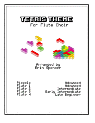 Tetris Theme for Flute Choir Sheet Music by Traditional Russian Folk Song