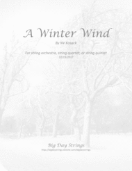 A Winter Wind - for string quartet or quintet Sheet Music by Nic Kosack