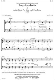 Songs Of Isaiah Sheet Music by Carl Schalk