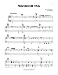 November Rain Sheet Music by W. Axl Rose