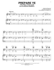 Prepare Ye (The Way Of The Lord) Sheet Music by Godspell (Musical)