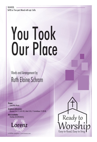 You Took Our Place Sheet Music by Ruth Elaine Schram