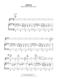 Jolene Sheet Music by Dolly Parton