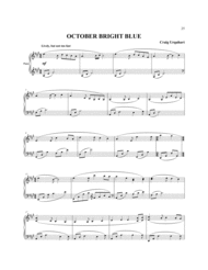 OCTOBER BRIGHT BLUE Sheet Music by CRAIG URQUHART