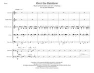 Over The Rainbow (from The Wizard Of Oz) for Steel Band Sheet Music by Judy Garland