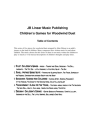 Children's Games Book for Flute and Clarinet Duet Sheet Music by Bizet