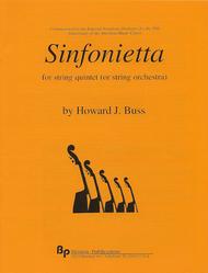 Sinfonietta Sheet Music by Howard J. Buss