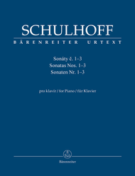 Sonatas for Piano Nr. Nos. 1-3 Sheet Music by Erwin Schulhoff