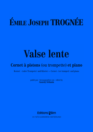 Valse lente Sheet Music by Emile Joseph Trognee