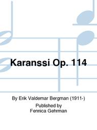Karanssi Op. 114 Sheet Music by Erik Valdemar Bergman