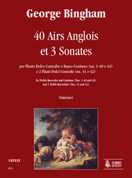 40 Airs Anglois et 3 Sonates Sheet Music by George Bingham