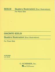 Quattro Illustrazioni (4 Illustrations) Sheet Music by Giacinto Scelsi