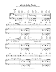Whole Lotta Rosie Sheet Music by Angus Young