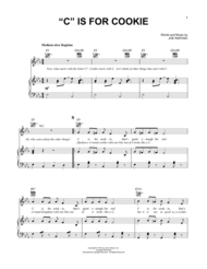 """""""C"""" Is For Cookie Sheet Music by Joe Raposo"""