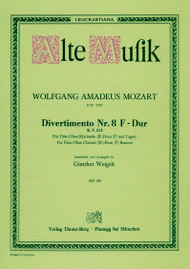 Divertimento Nr. 8 Sheet Music by Wolfgang Amadeus Mozart