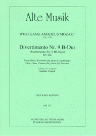 Divertimento Nr. 9 Sheet Music by Wolfgang Amadeus Mozart
