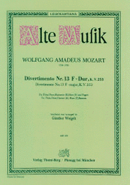 Divertimento Nr. 13 Sheet Music by Wolfgang Amadeus Mozart