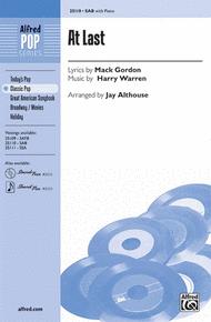 At Last Sheet Music by Harry Warren