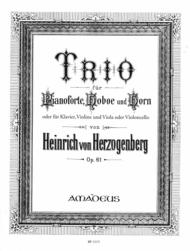 Trio in D op. 61 Sheet Music by Heinrich von Herzogenberg