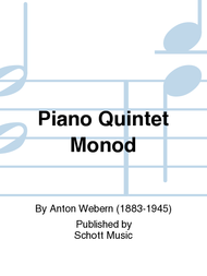 Piano Quintet Monod Sheet Music by Anton Webern