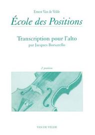 Ecole Des Positions 2nd Sheet Music by Ernest Van de Velde / Jacques Borsarello