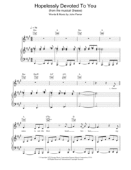 Hopelessly Devoted To You Sheet Music by Grease (Musical)