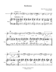 Sicilienne Sheet Music by Maria Theresia von Paradis
