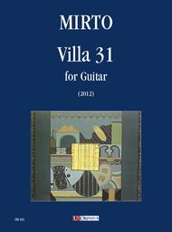 Villa 31 for Guitar (2012) Sheet Music by Giorgio Mirto