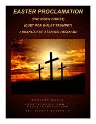 Easter Proclamation (The Risen Christ) (Duet for Bb-Trumpet) Sheet Music by Georg Friedrich Handel