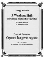 A Wondrous Birth Sheet Music by Georgy Sviridov