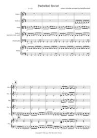 Pachelbel Rocks! for String Quartet Sheet Music by Johann Pachelbel