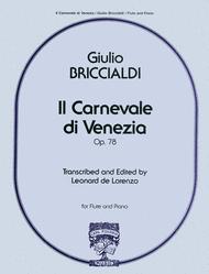 Il Carnevale Di Venezia Sheet Music by Giulio Briccialdi
