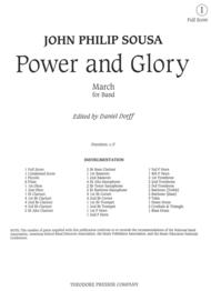 Power And Glory Sheet Music by John Philip Sousa