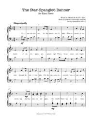 The Star Spangled Banner (National Anthem) - Easy Piano Sheet Music by John Stafford Smith