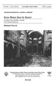 Even When God Is Silent Sheet Music by Michael Horvit