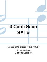 3 Canti Sacri SATB Sheet Music by Giacinto Scelsi
