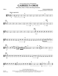 Gabriel's Oboe (from The Mission) - Viola Sheet Music by Ennio Morricone