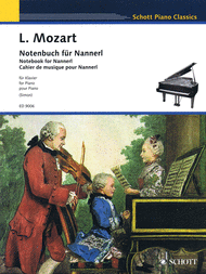 Notebook for Nannerl Sheet Music by Leopold Mozart