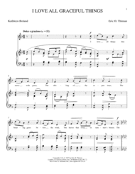 I Love All Graceful Things Sheet Music by Eric H. Thiman