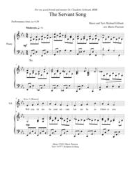 The Servant Song SATB Piano (version 2) Sheet Music by Richard Gillard