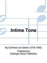Intime Tone Sheet Music by Gottfried von Einem