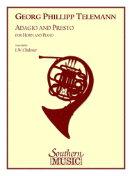 Adagio and Presto Sheet Music by Georg Philipp Telemann