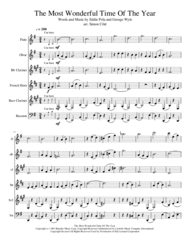 The Most Wonderful Time Of The Year Sheet Music by George Wyle & Eddie Pola